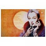 Marlene Dietrich Schildering restaurant La Comedy 3.50 x 2.00 meter