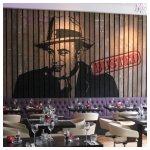 Al Capone Schildering restaurant de Rechtbank 2.00 x 4.00 meter