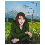 Portret meisje Schildering particulier 0,80 x 1,00 meter