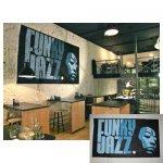 Funky jazz Schildering eetcafé Het Leven te Leeuwarden 1.70 x 2.50 meter