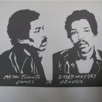 Jimi Hendrix Schildering restaurant de Rechtbank 0.50 x 0.80 meter