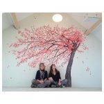 Bloesemboom Schildering slaapkamer particulier 4,00 x 3,00 meter