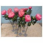 grote pioenrozen <p>€ 5,00 p/s VERHUUR</p> <p>12 bloemen / 90 x 20 cm (lxb) / zijde</p>