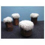 boomstamkrukjes <p>v.a. € 12,50 p/s VERHUUR</p> <p>4 stuks, meerdere mogelijk / hout</p>