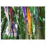 <p>Gekleurde hangende decoratie van stof</p> <p>€ 15,00 p/s VERHUUR</p> <p>26 stuks / 240 x 45 cm (lxb) / stof</p>