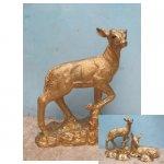 gouden hert <p>€ 25,00 p/s VERHUUR</p> <p>1 gouden hert / 95 x 70 cm (lxb) / polyester</p>