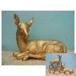 gouden hert <p>€ 25,00 VERHUUR</p> <p>1 gouden hert / 55 x 70 cm (lxb) / polyester</p>