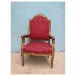 barok stoel <p>€ 35,00 VERHUUR - € 225,00 VERKOOP</p> <p>1 stuk / 64 x 56 x 110 cm (lxbxh) / hout</p>