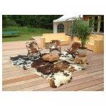 koeievel stoel <p>€ 75,00 VERKOOP</p> <p>2 stuks / hout met koeienvel</p>