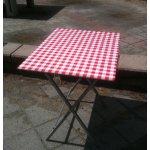 terrastafel geruit <p>€ 12,50 p/s VERHUUR</p> <p>6 stuks klaptafel</p>