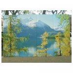 alpen landschap <p>€ 50,00 VERHUUR</p> <p>4 panelen / enkel 67 x 244 - totaal 268 x 244 / hout</p>