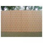 behangwand oranje <p>€ 80,00 VERHUUR</p> <p>6 panelen / enkel 122 x 244 - totaal 732 x 244 / hout</p>